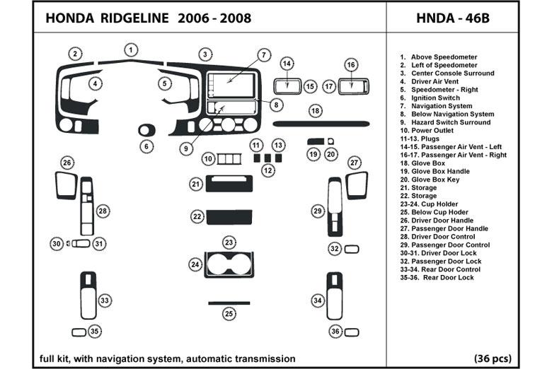 Rtint U2122 Honda Ridgeline 2006