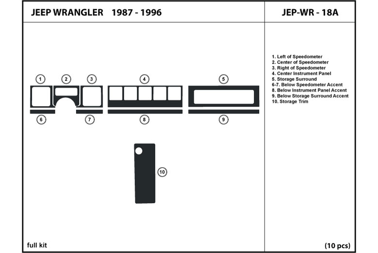 1990 jeep wrangler dash diagram  jeep  auto parts catalog