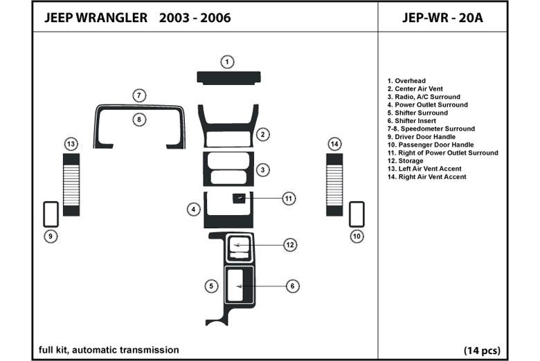2003 jeep wrangler dl auto dash kit diagram
