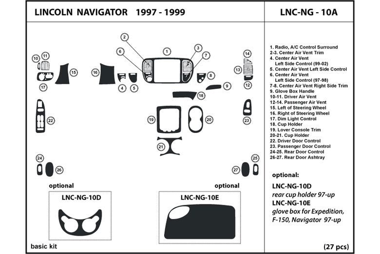 1997 Ford F150 Dl Auto Dash Kit Diagram - Wiring Diagram Save