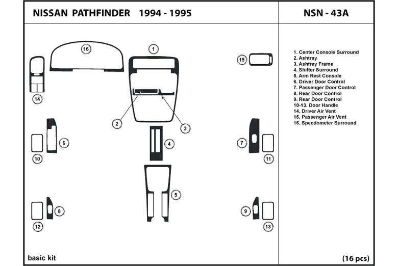 dl auto� nissan pathfinder 1994 1995 dash kits Nissan Quest Diagram 1994 nissan pathfinder dl auto dash kit diagram