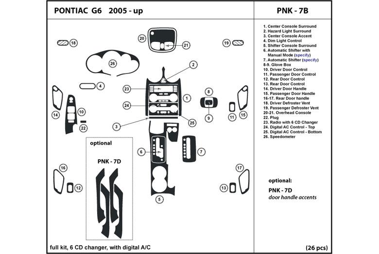 pontiac g6 wiring harness diagram pontiac g6 wiring to instrument dl auto® pontiac g6 2005-2010 dash kits #5