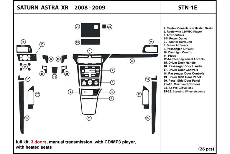 2008 saturn astra dash kits custom 2008 saturn astra. Black Bedroom Furniture Sets. Home Design Ideas