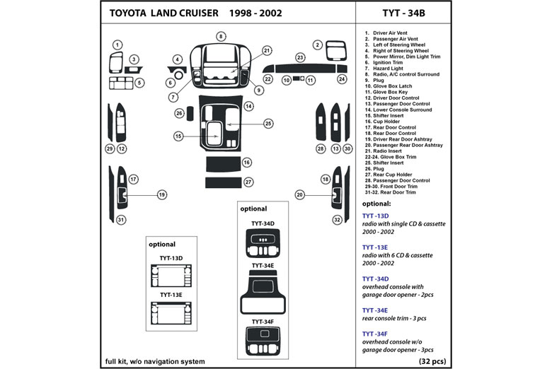 dl auto u00ae toyota land cruiser 1998