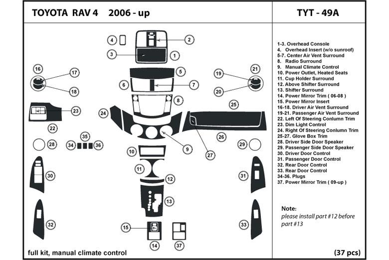 Fits Toyota RAV4 MK3 2.2 D-4D assorti OE QUALITY Don Arrière FREIN PADS SET