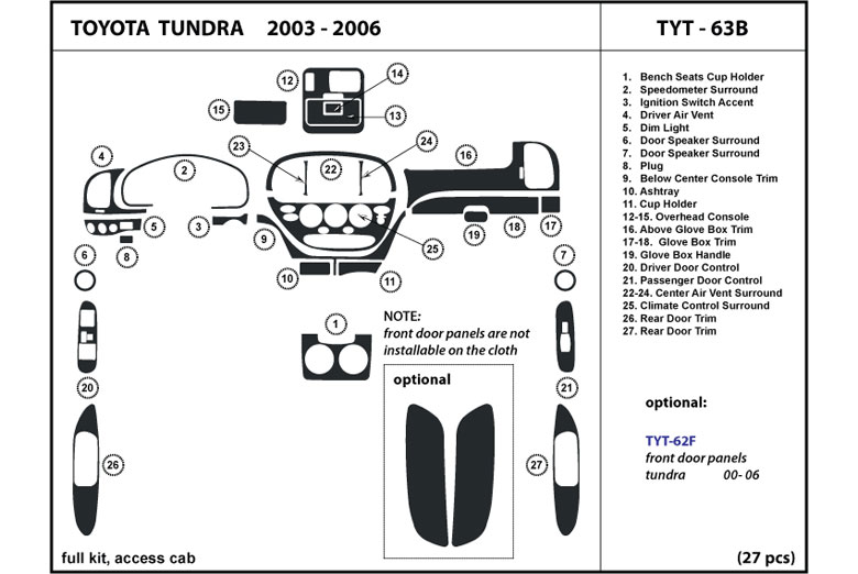 2004 Toyota Tundra Dash Kits Custom 2004 Toyota Tundra Dash Kit
