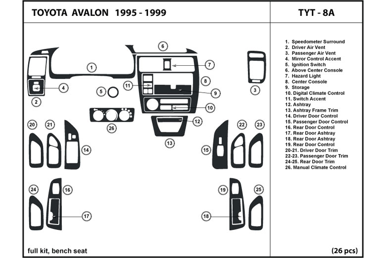 Wiring Diagram For 1996 Toyota Avalon : Radio wiring diagram for toyota avalon xls