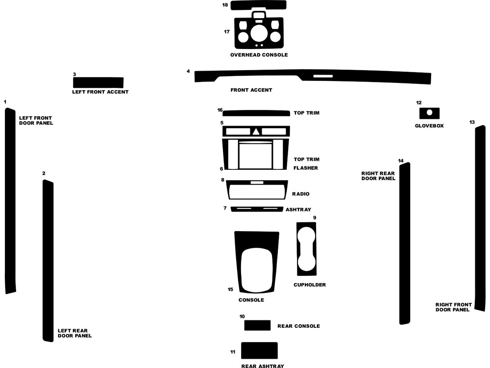 Audi S4 2000-2001 Dash Kit Diagram