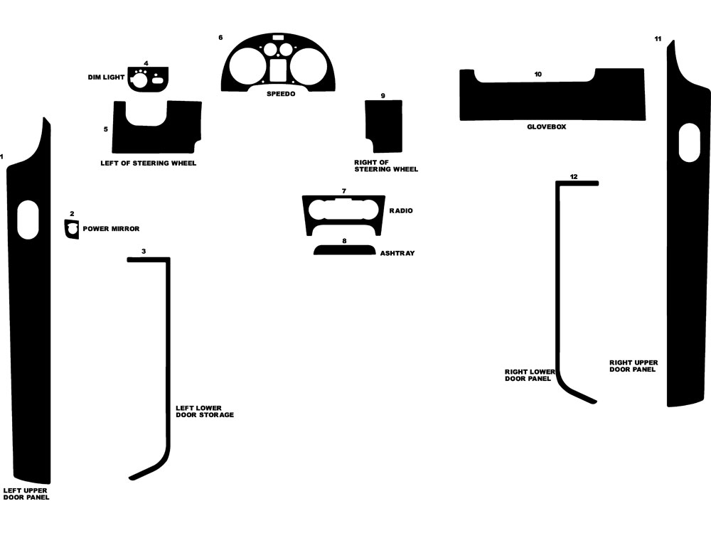 Audi TT 2000-2006 Dash Kit Diagram
