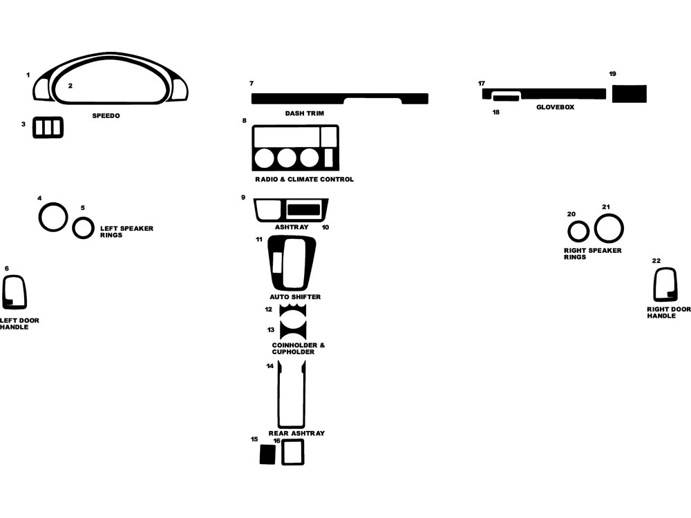 BMW 318ti 1995-1999 Dash Kit Diagram