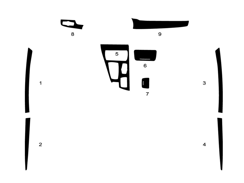 BMW 5-Series 2011-2015 Dash Kit Diagram