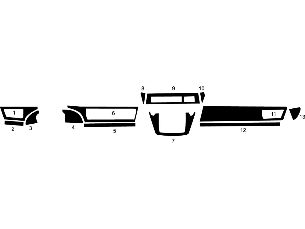 BMW 7-Series 2002-2008 Dash Kit Diagram