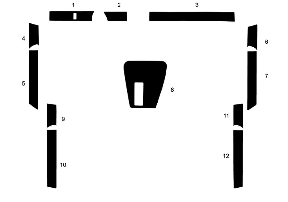 BMW 7-Series 1988-1994 Dash Kit Diagram