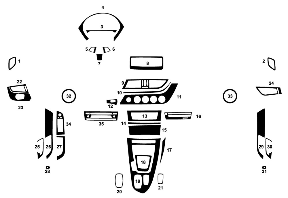 BMW Z4 2009-2016 Dash Kit Diagram