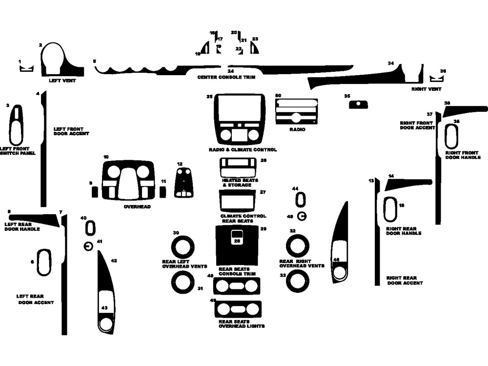 Buick Enclave 2008-2012 Dash Kit Diagram