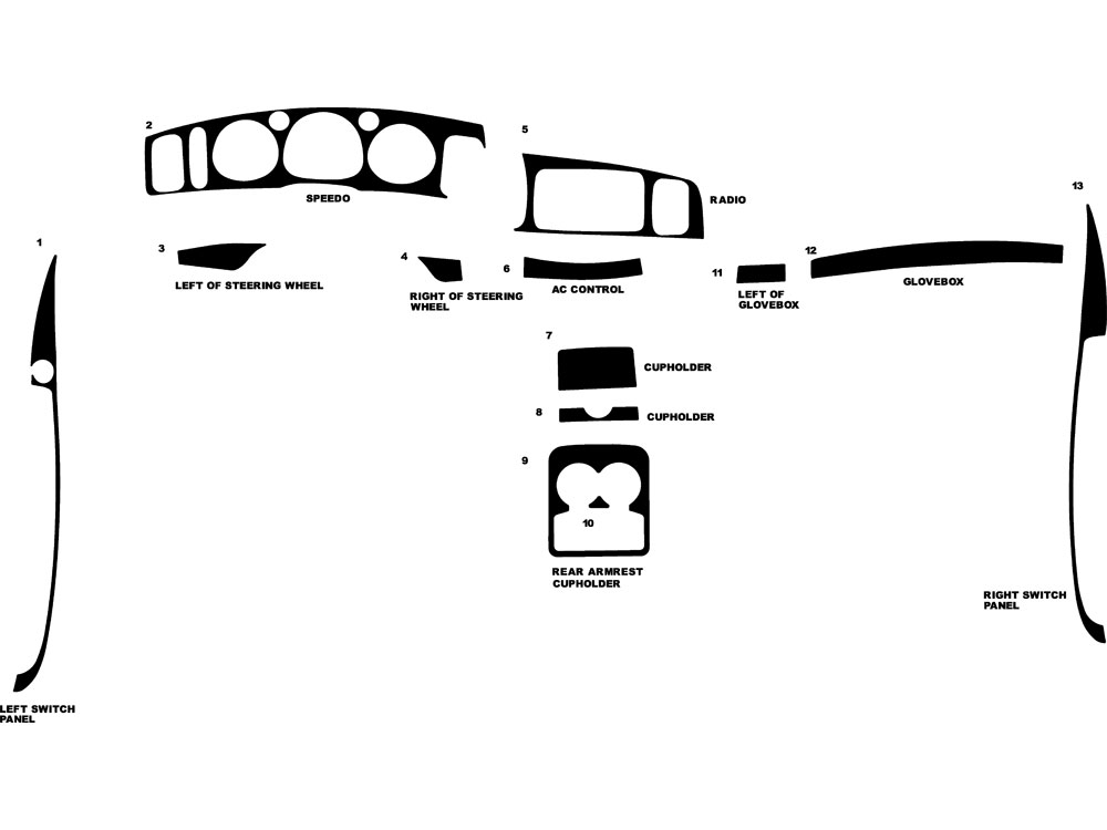 Buick LeSabre 2003-2005 Dash Kit Diagram