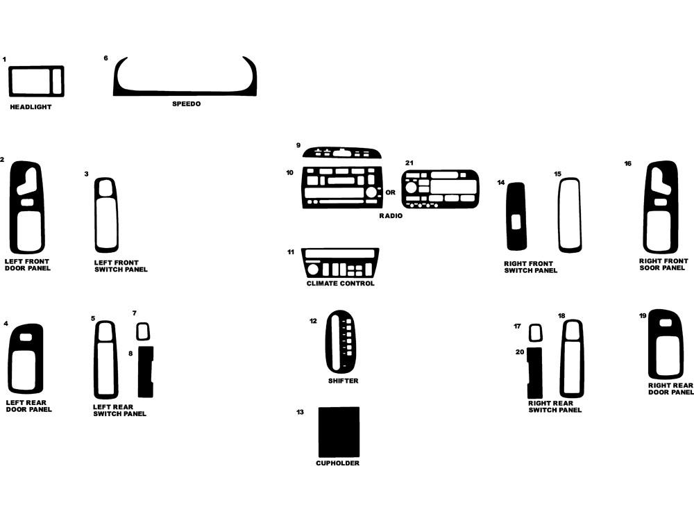 1997 cadillac deville dash kits