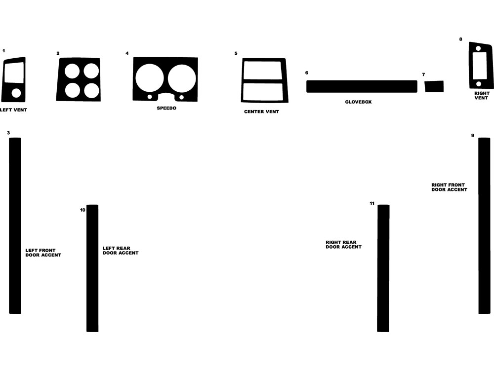 Chevrolet Pick Up Full Size 1973-1987 Dash Kit Diagram