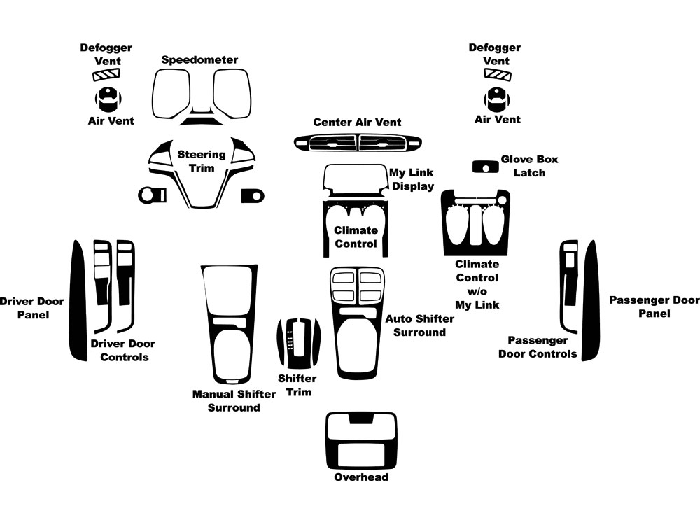 Chevrolet Camaro 2012-2015 Dash Kit Diagram