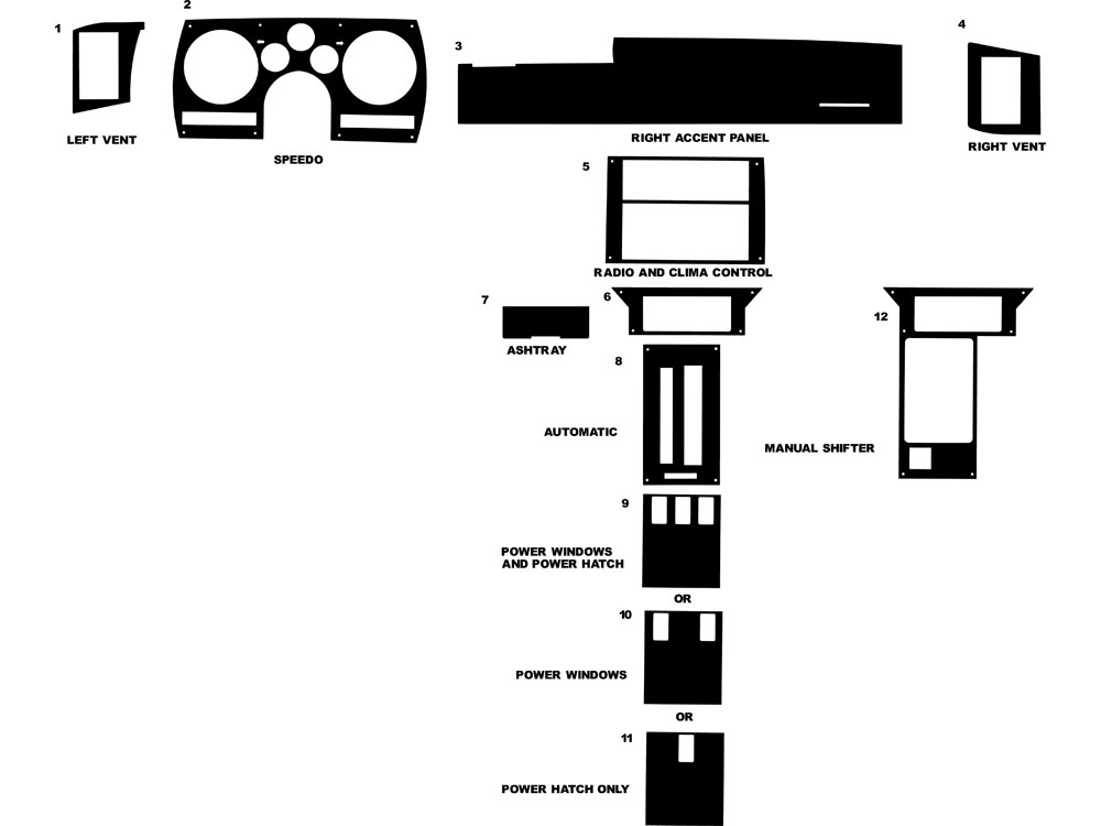 89 camaro schematic chevrolet camaro 1982 1989 dash kits diy dash trim kit  chevrolet camaro 1982 1989 dash kits
