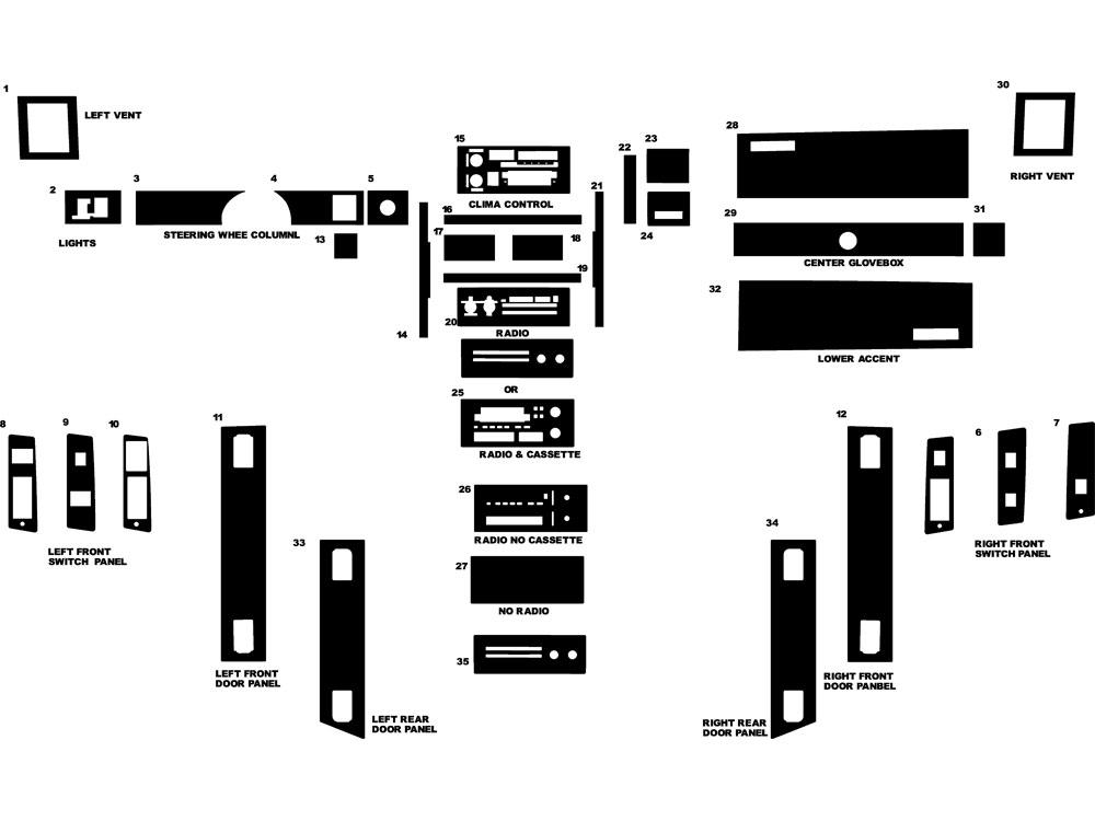 1987 chevrolet caprice dash kits