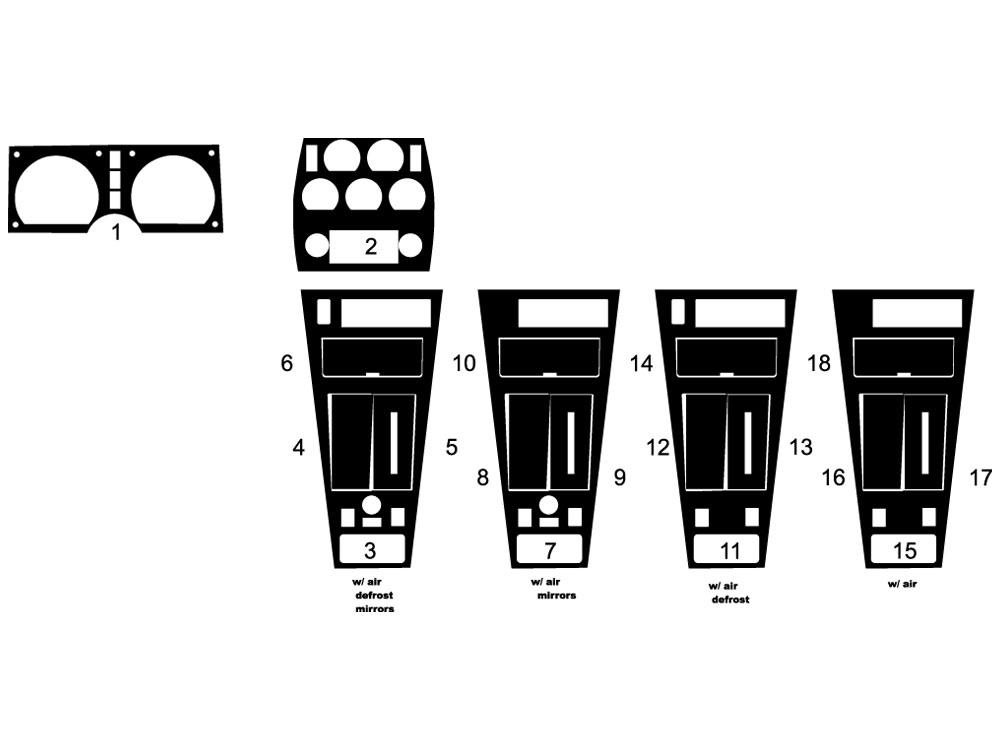 Rdash Dash Kit for Chevrolet Corvette 1981-1982 Auto
