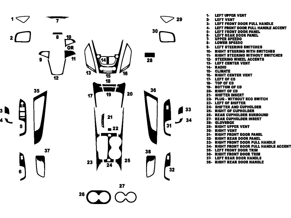 Chevrolet Equinox 2010-2017 Dash Kit Diagram