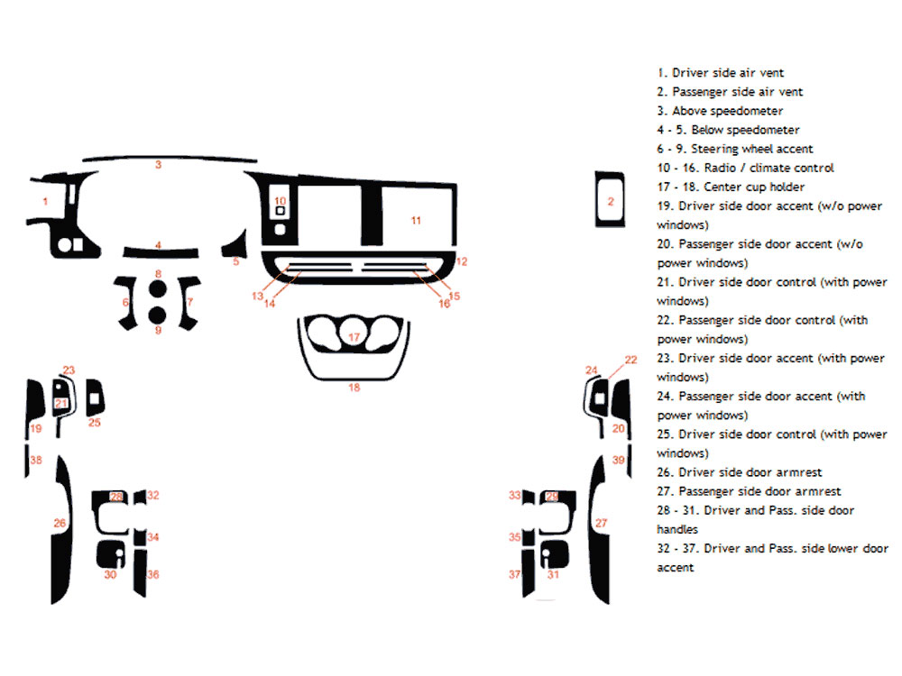 Chevrolet Express 2008-2017 Dash Kit Diagram