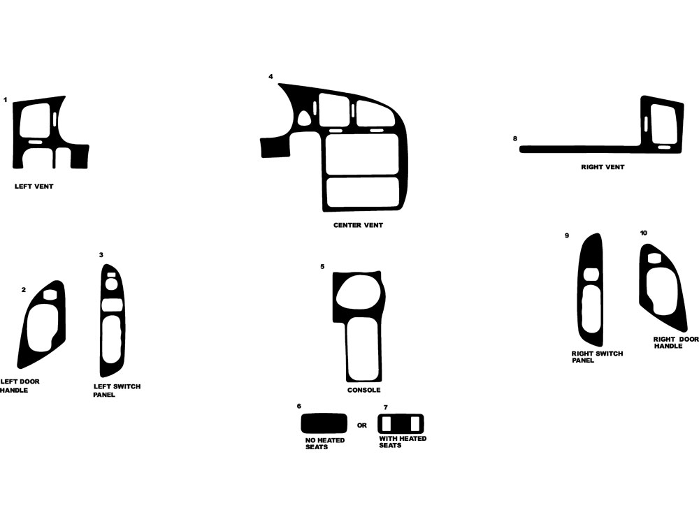 Chevrolet Monte Carlo 2000-2005 Dash Kit Diagram