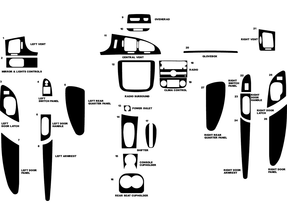 Chevrolet Monte Carlo 2006-2007 Dash Kit Diagram