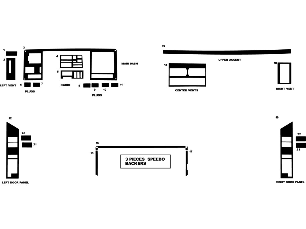 GMC Pick Up Full Size 1988-1991 Dash Kit Diagram