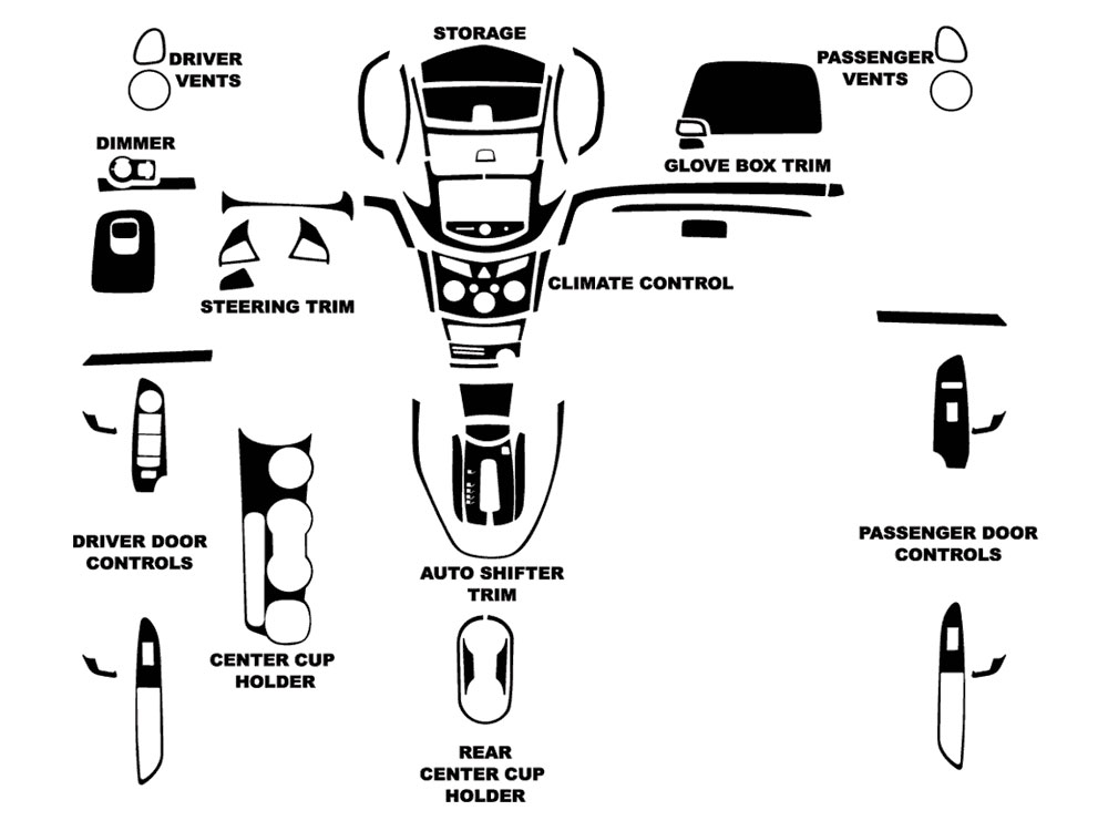 Chevrolet Trax 2015-2016 Dash Kit Diagram
