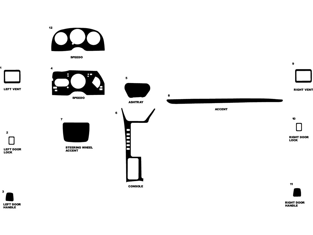 Chrysler Lebaron 1990-1995 Dash Kit Diagram