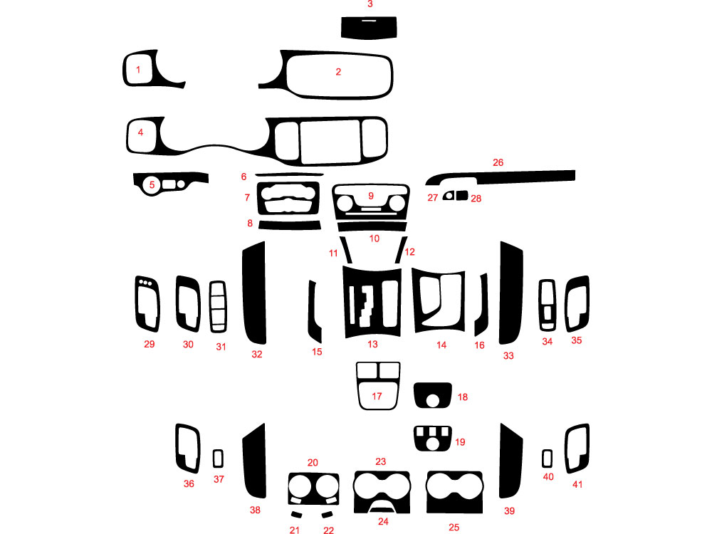 Dodge Charger 2011-2020 Dash Kit Diagram