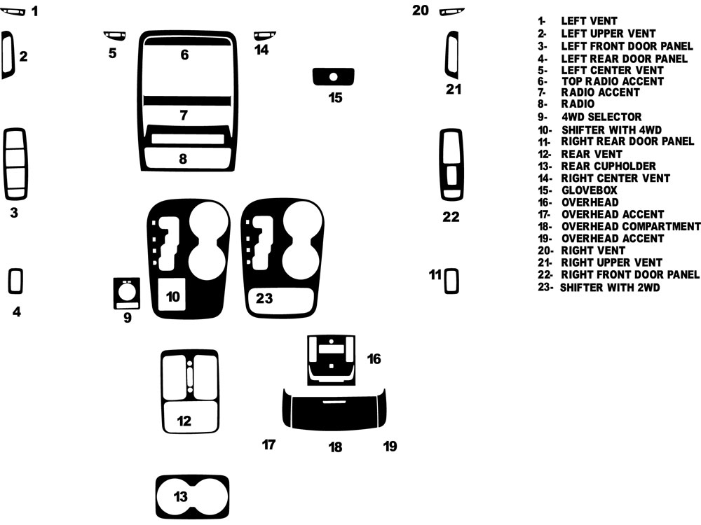 Dodge Durango 2011-2013 Dash Kit Diagram