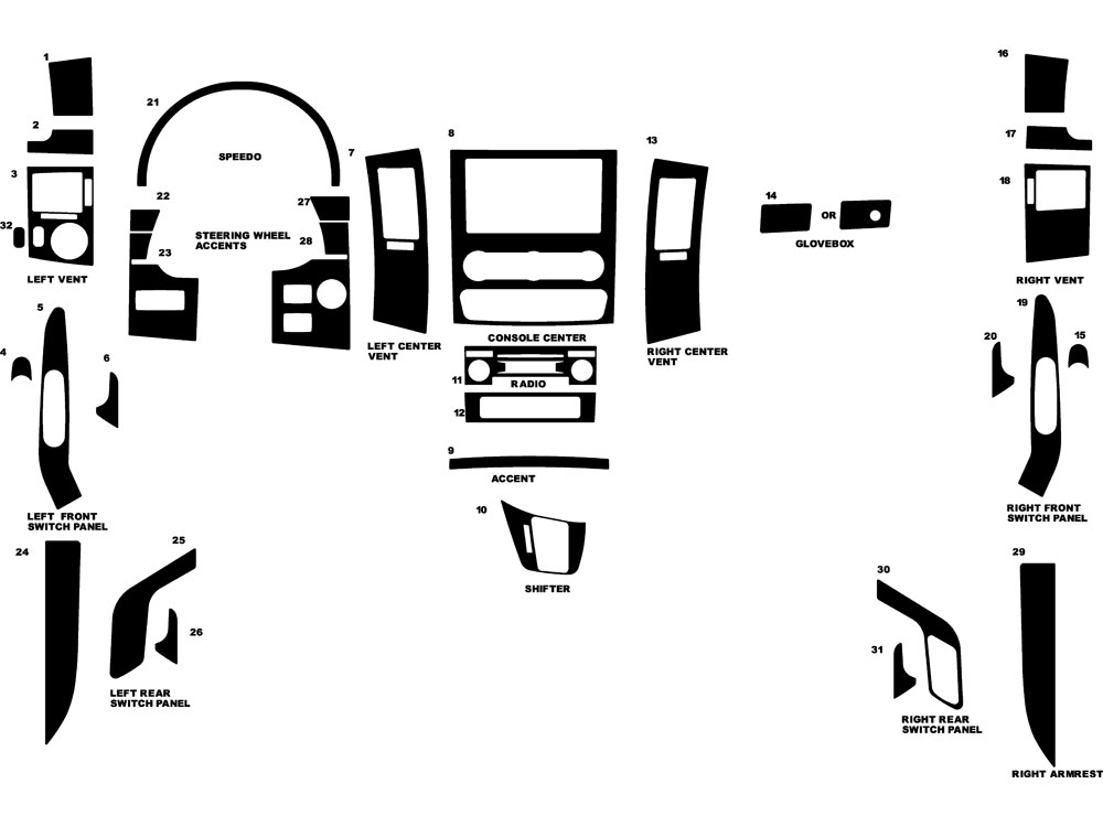 Dodge Sprinter 2007-2009 Dash Kit Diagram