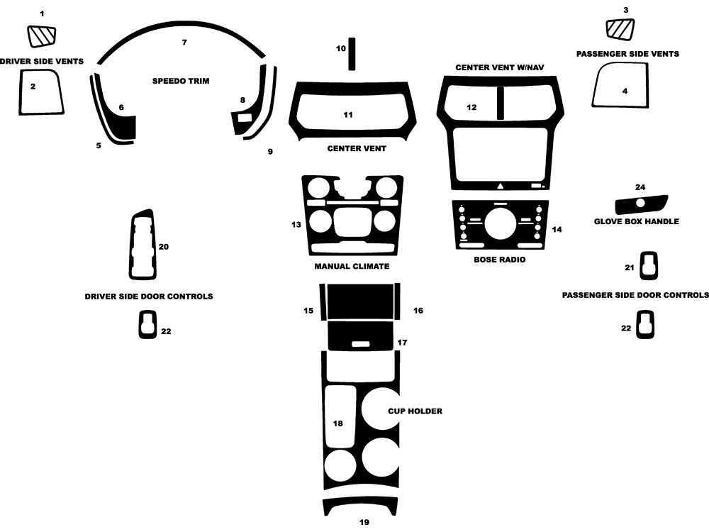 Ford Explorer 2011-2014 Dash Kit Diagram