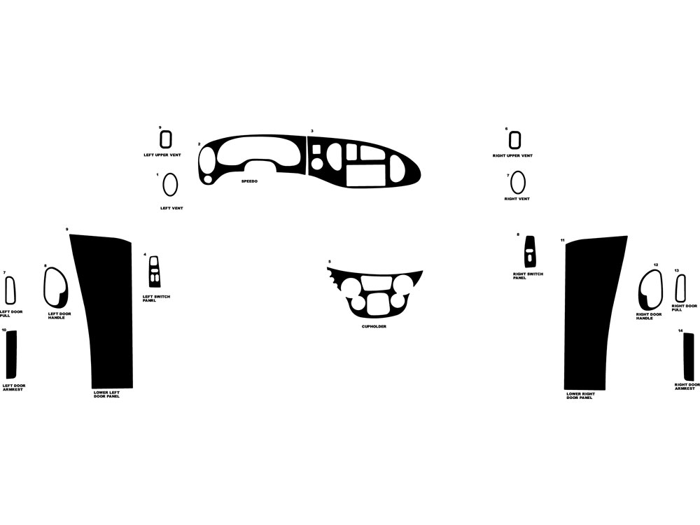 Ford E-150 2000-2005 Dash Kit Diagram
