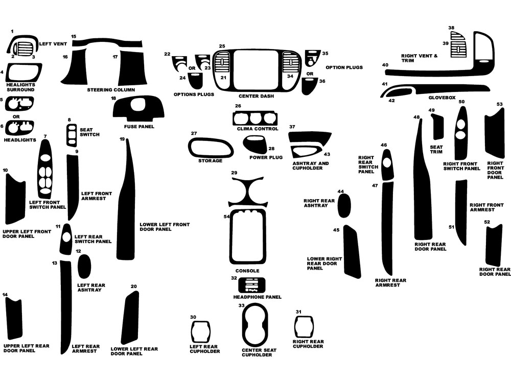 1999 Ford Expedition Dash Kits
