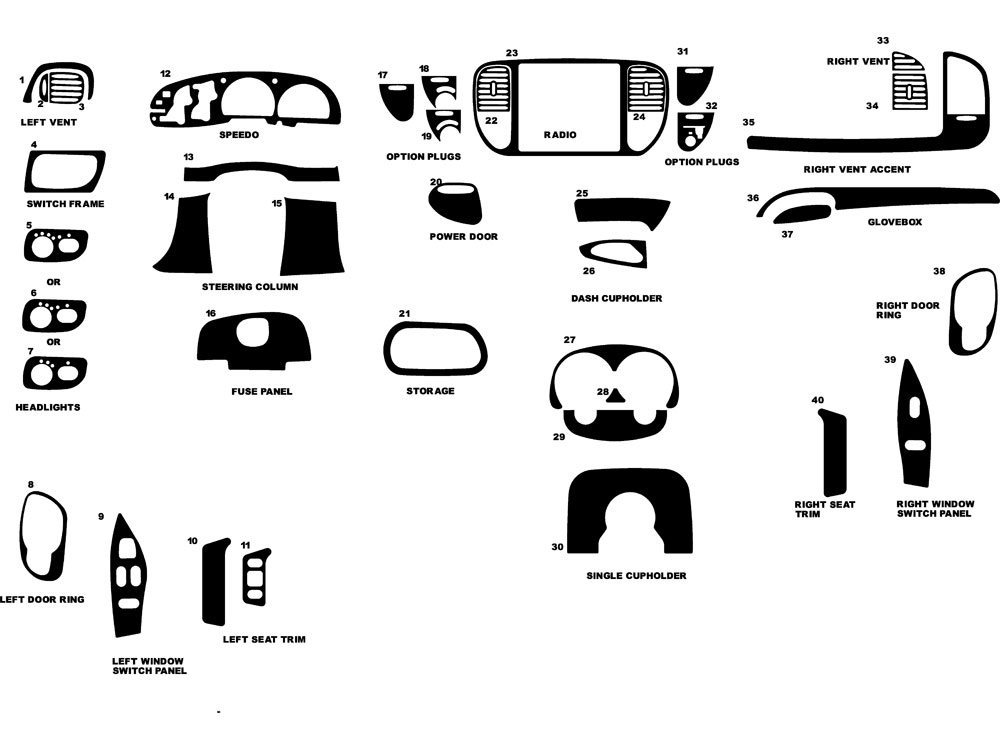 Ford F 150 1997 1998 Dash Kit Diagram