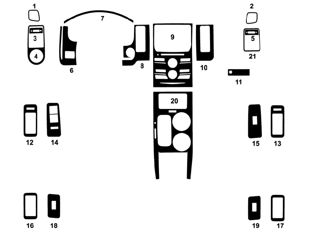 Ford Flex 2013-2016 Dash Kit Diagram