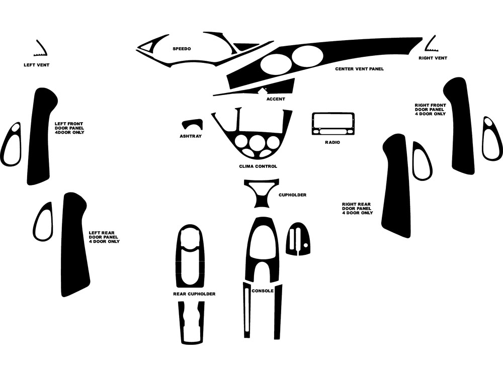 Ford Focus 2000-2004 Dash Kit Diagram