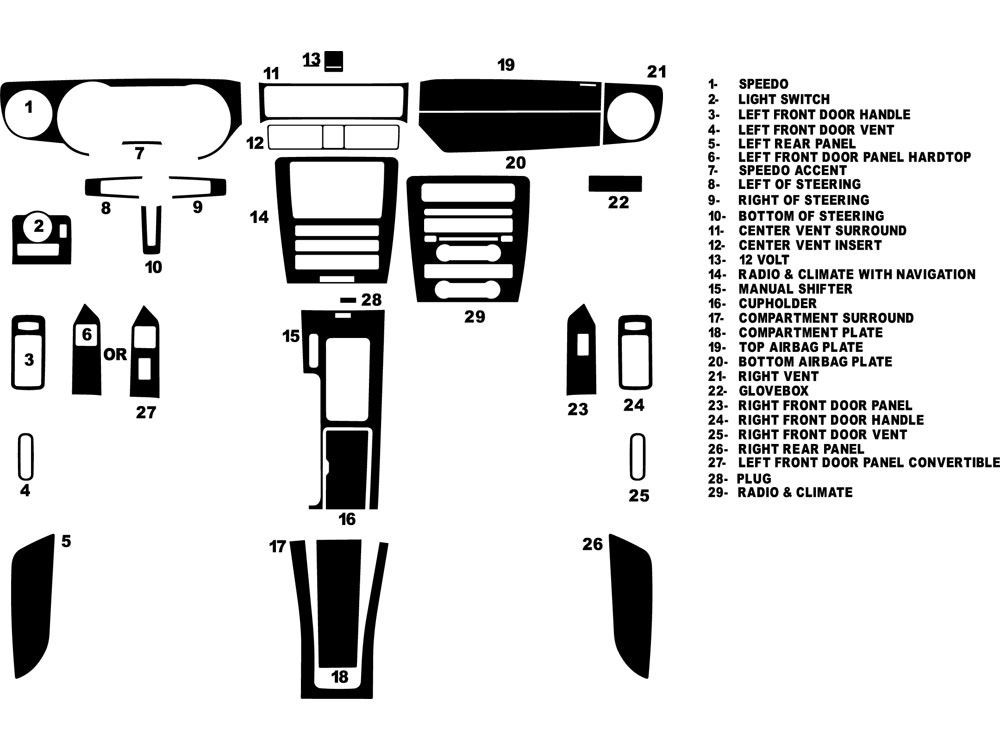 DK FRD MUS 10 ford mustang 2010 2014 dash kits diy dash trim kit Ford Engine Parts Diagram at alyssarenee.co