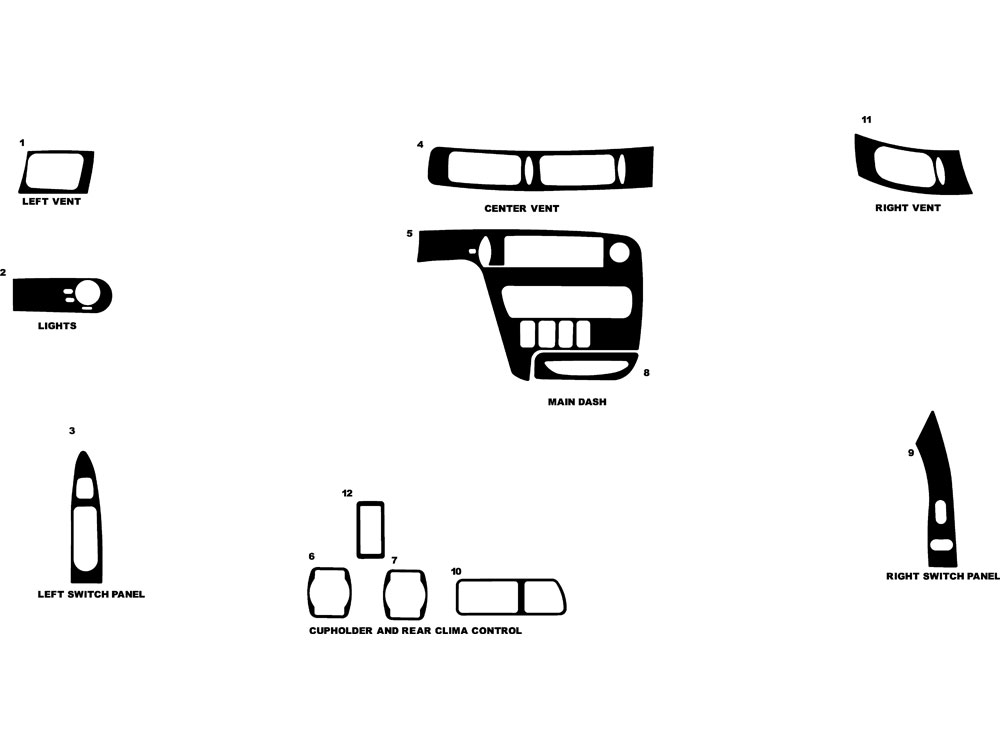 Ford Windstar 1998 Dash Kit Diagram