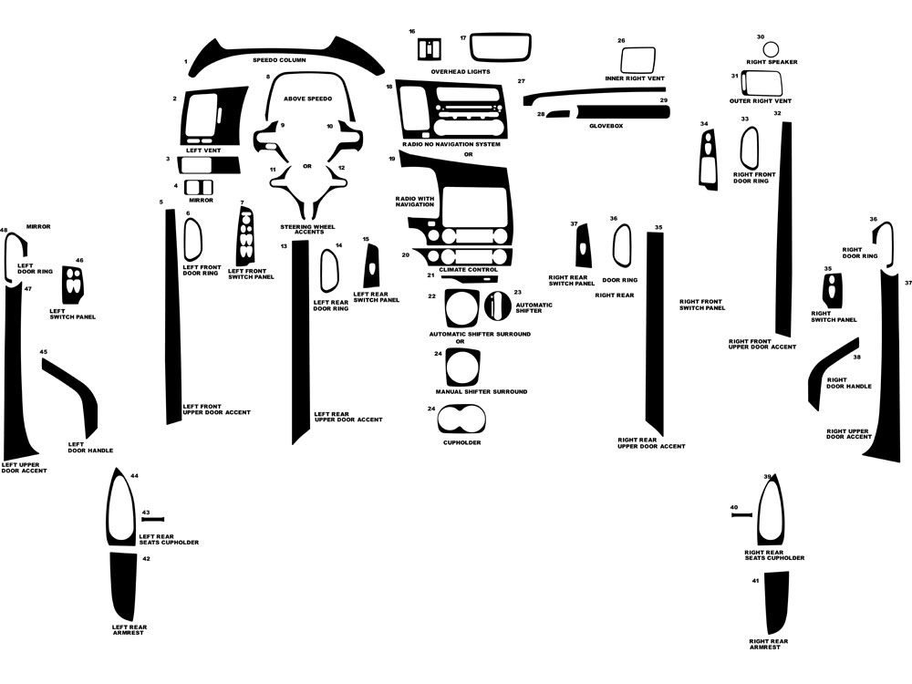 Honda Civic 2006-2011 Dash Kit Diagram