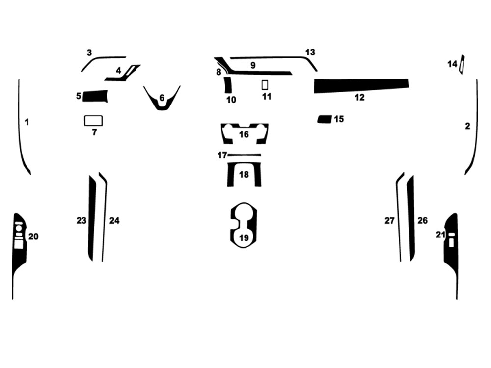 Honda Civic 2016-2021 Coupe Dash Kit Diagram