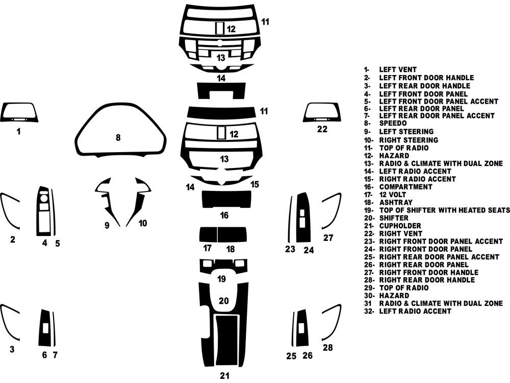 2012 honda crosstour dash kits