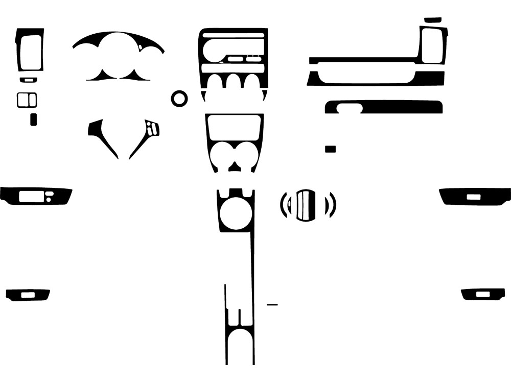 Honda Fit 2007-2008 Dash Kit Diagram