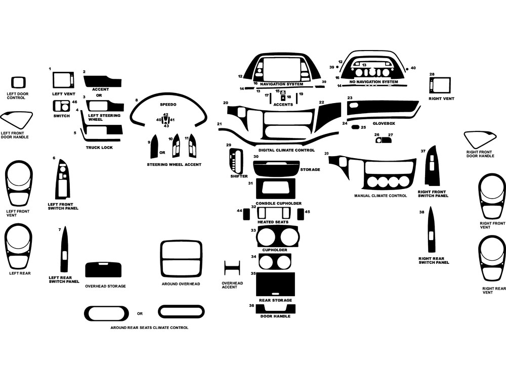 Honda Odyssey 2005-2010 Dash Kit Diagram