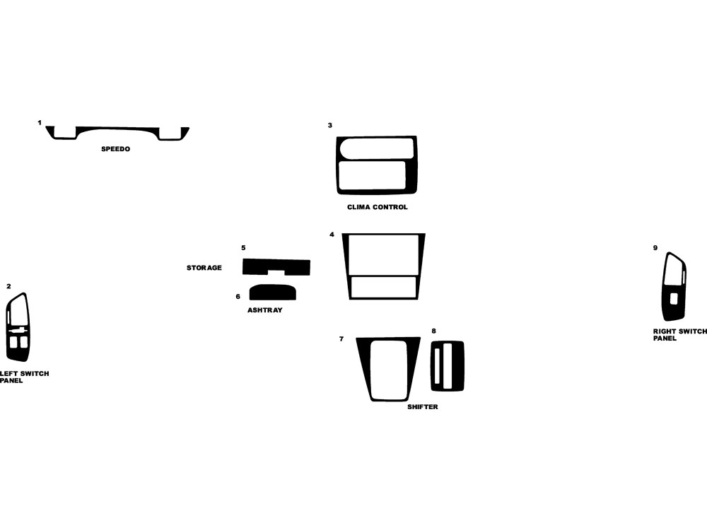 Honda Prelude 1988-1991 Dash Kit Diagram